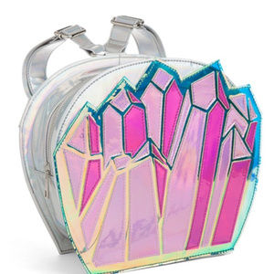 💎 NEW Crystal Gem Iridescent Holographic Backpack